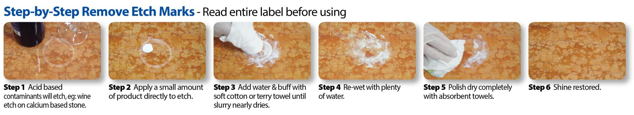 Step by Step Guide using ReShine Stone Restoration