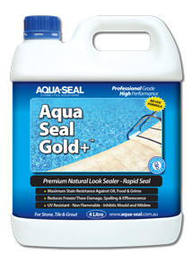 Aqua-Seal Gold+™ Premium Natural look sealer with Rapid Seal. The choice of sealing professionals.
