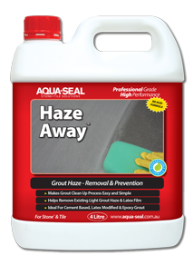 Haze Away, Grout Haze Remover and Grout Haze Inhibitor