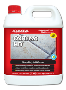 Oxitreat HD, removes grout haze, efflorescence, rust, mineral deposits, pencil and rust